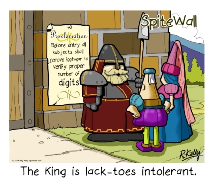 lack-toes